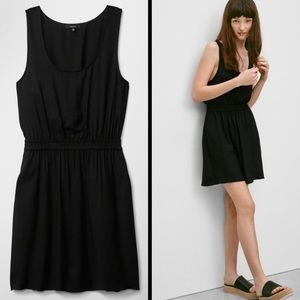 ARITZIA Talula Roppongi Fit-and-Flare black dress